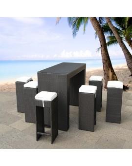 Table haute + 6 tabourets OCEANO