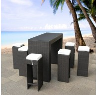 Table haute + 6 tabourets OCEANO