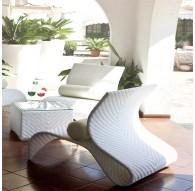 Set 2 chaises courbées + table café IRIS
